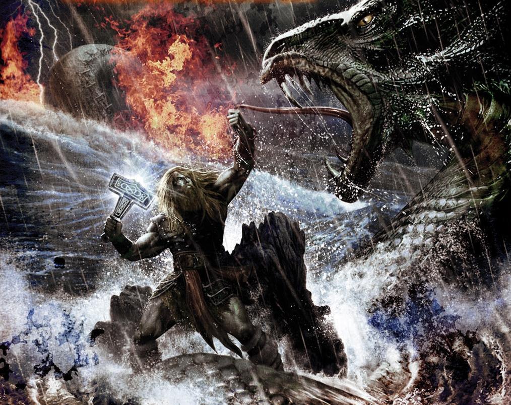 Thor vs jormungandr mainer74 - God of war jormungandr ...